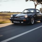 Fahraufnahme 1980 Porsche 911 SC Weissach Edition Sondermodell Schwarz Metallic