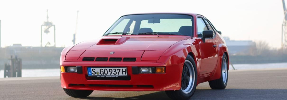 Front 1980 Porsche 924 Carrera GT Indischrot