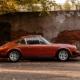 Seitenansicht 1974 Porsche 911S Coupé Lachsdiamant