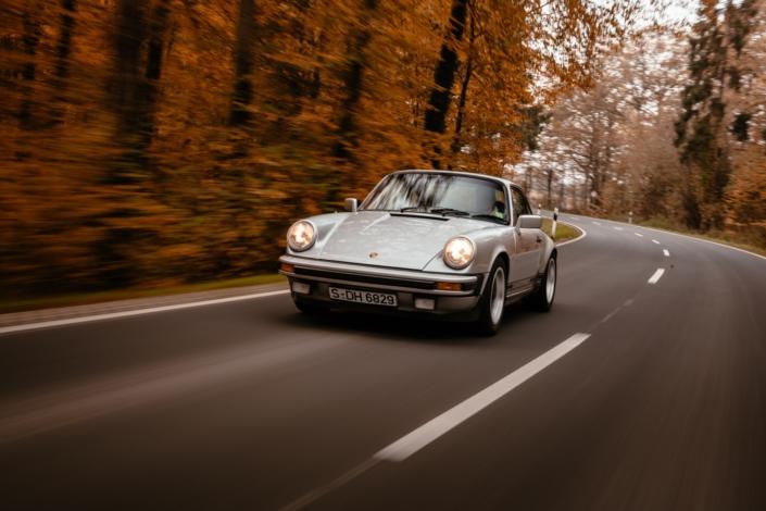 Fahraufnahme 1980 Porsche 911 SC 3.0 Silber