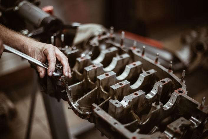 Motorrevision Sechszylinder Boxermotor Motorgehäuse